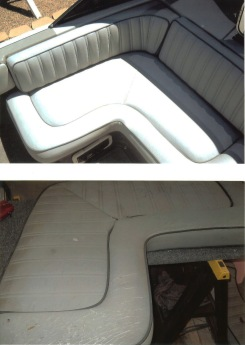 Boat seats after and before